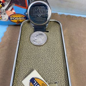 Fossil Accessories - Vintage Captain Fossil Rocket Man Watch with Tin